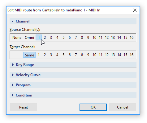 Using Cantabile as a VST Host for MIDI-Only Programs