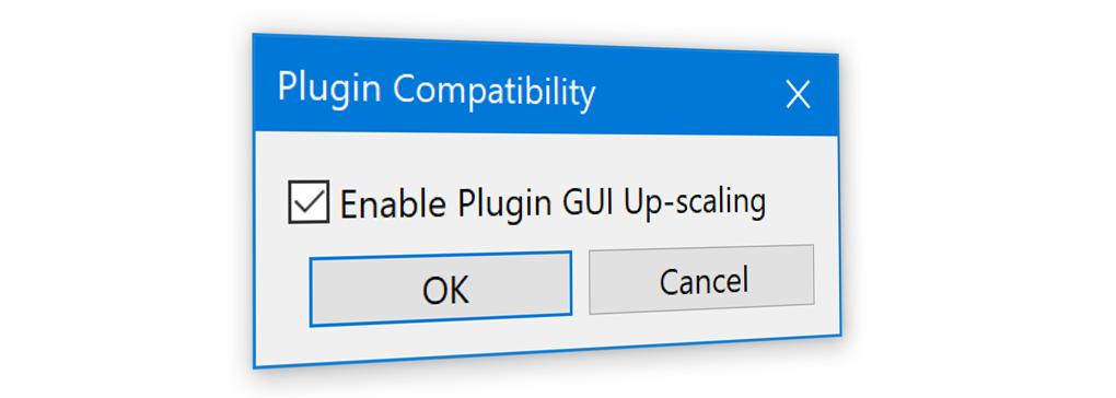 Controlling Plugin GUI Upscaling