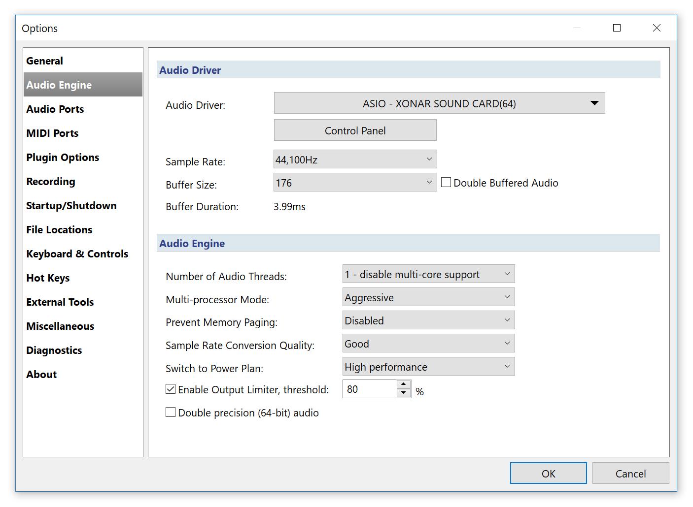 Audio Engine Options